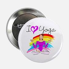"""I LOVE YOGA 2.25"""" Button"""