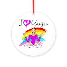 I LOVE YOGA Ornament (Round)