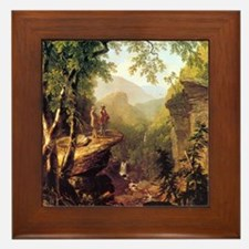 Asher Brown Durand Kindred Spirits Framed Tile