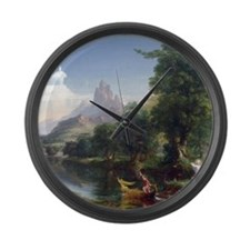 Thomas Cole Voyage Of Life Youth Large Wall Clock