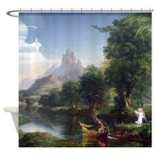 Thomas Cole Voyage Of Life Youth Shower Curtain
