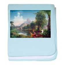 Thomas Cole Voyage Of Life Youth baby blanket