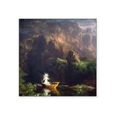 Thomas Cole Voyage Of Life - Childhood Square Stic