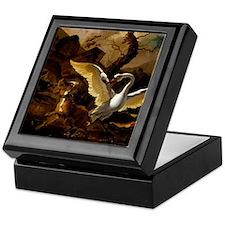 A Swan Enraged by Hondius Keepsake Box