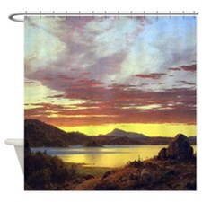 Frederic Edwin Church A Sunset Shower Curtain