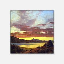 "Frederic Edwin Church A Sunset Square Sticker 3"" x"