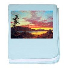 Frederic Edwin Church A Sunset baby blanket
