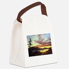Frederic Edwin Church A Sunset Canvas Lunch Bag