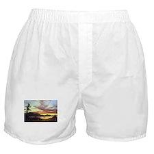 Frederic Edwin Church A Sunset Boxer Shorts