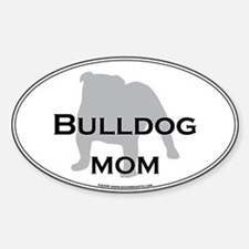 Bulldog MOM Oval Decal