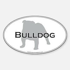 Bulldog Oval Decal