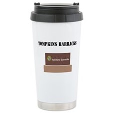 Tompkins Barracks with Text Travel Mug