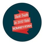GOP Fuck Truth Round Car Magnet
