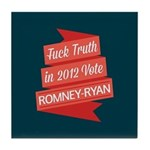 GOP Fuck Truth Tile Coaster