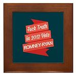 GOP Fuck Truth Framed Tile