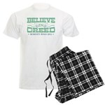 Believe in Greed Men's Light Pajamas