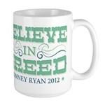 Believe in Greed Large Mug