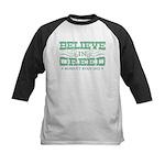 Believe in Greed Kids Baseball Jersey