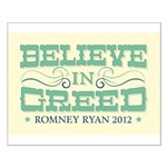 Believe in Greed Small Poster