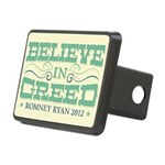 Believe in Greed Rectangular Hitch Cover