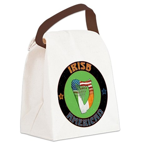 Irish American Harp Canvas Lunch Bag