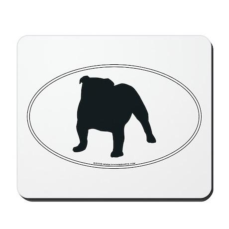 Bulldog Silhouette Mousepad