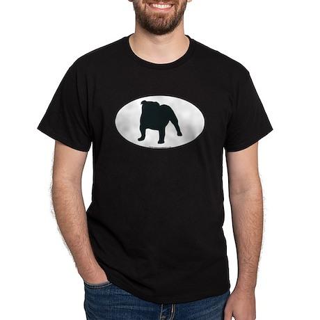 Bulldog Silhouette Black T-Shirt