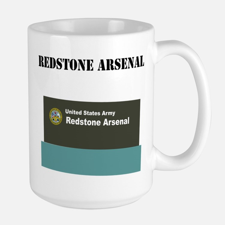 Redstone Arsenal with Text Large Mug