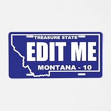 2010 Blue and white Montana outline custom plate