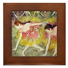 Edgar Degas After The Bath Framed Tile