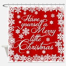 Merry little Christmas Shower Curtain