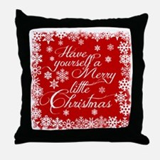 Merry little Christmas Throw Pillow