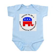 North Dakota Republican Pride Infant Bodysuit