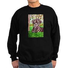 Chocolate Labrador by Jocelyn Triggle Sweatshirt (
