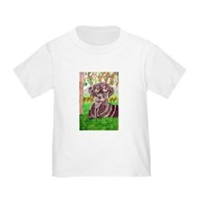 Chocolate Labrador by Jocelyn Triggle Toddler T-Sh