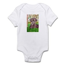 Chocolate Labrador by Jocelyn Triggle Infant Bodys