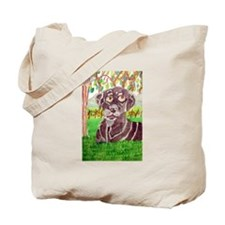 Chocolate Labrador by Jocelyn Triggle Tote Bag
