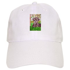 Chocolate Labrador by Jocelyn Triggle Baseball Cap