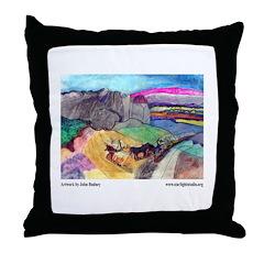 John Budney, landscape. Throw Pillow