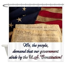 We The People Demand Shower Curtain