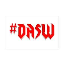 #DASW Rectangle Car Magnet