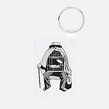 Bird Cage Man Keychains