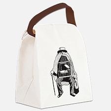 Bird Cage Man Canvas Lunch Bag