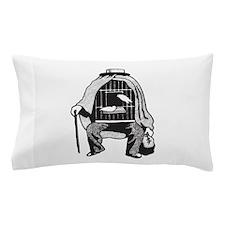 Bird Cage Man Pillow Case