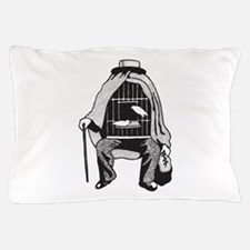Bird Cage Man Pillow Case