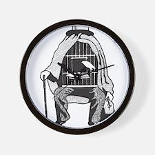 Bird Cage Man Wall Clock