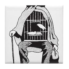 Bird Cage Man Tile Coaster
