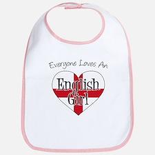 Everyone Loves English Girl Bib