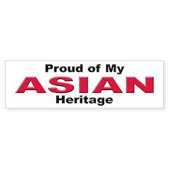 Proud Asian Heritage Bumper Bumper Sticker