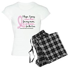 Hope Pray Wear Pink Breast Cancer Pajamas